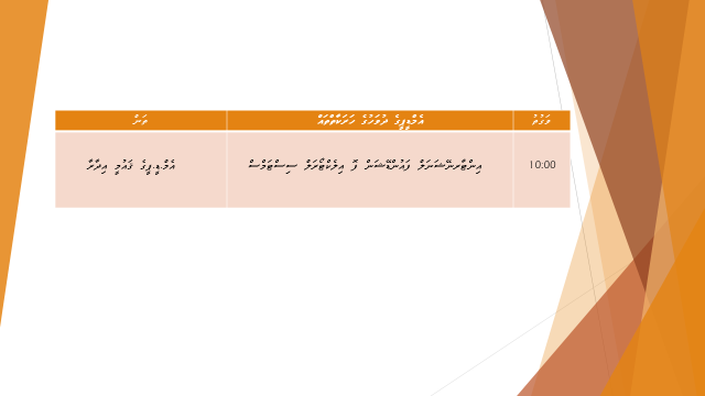 Dhuvahuge Schedule 21.1.15