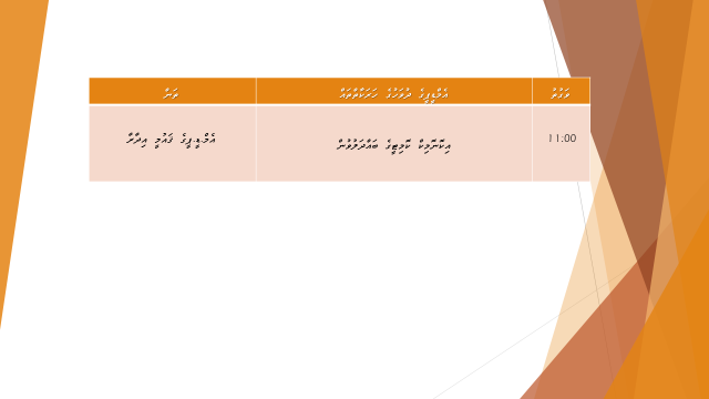 Dhuvahuge Schedule 28.1.15